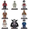 8 pçs/lote Mundo The Walking Dead Zombie Filme figuras Blocos Define Figuras Bricks Brinquedos