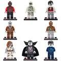 8 unids/lote Mundo The Walking Dead Zombie Movie figuras Bloques Huecos de Figuras Juguetes de Los Ladrillos
