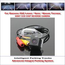 Intelligentized Reversing Camera For Daewoo ZAZ Lanos / Sens / Nissan Terrano Rear View / 580 TV Lines Dynamic Guidance Tracks цена