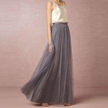 3 слоя Длинная юбка макси мягкий тюль юбки невесты свадебные юбка-пачка бальное платье плюс Размеры Faldas saias femininas Jupe