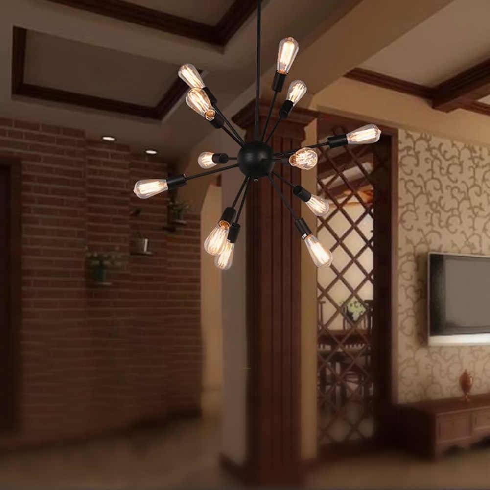E27 Edison Lâmpadas Do Vintage Luz Pingente de Loft Industrial 12/15/18/20 Cabeças Pingente Restaurante Lâmpada Sputnik barra de Luzes Penduradas