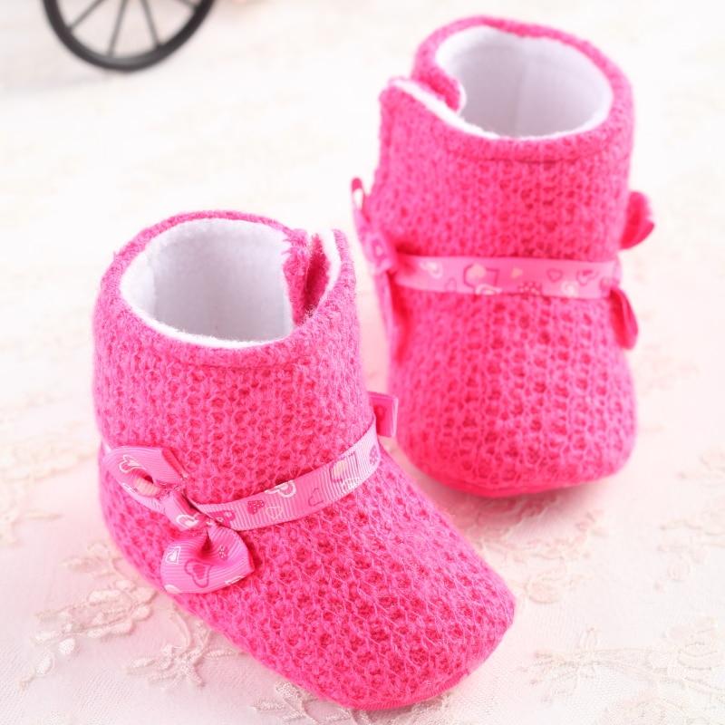 Winter Brand Pink Newborn Baby Shoes Inf