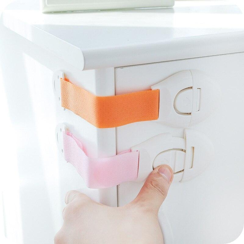 6 Pcs Baby Box Drawer Lock Cabinet Plastic Drawer Lock Kid Fridge Door Latch Toilet Window Children Safety Straps Lock Promotion