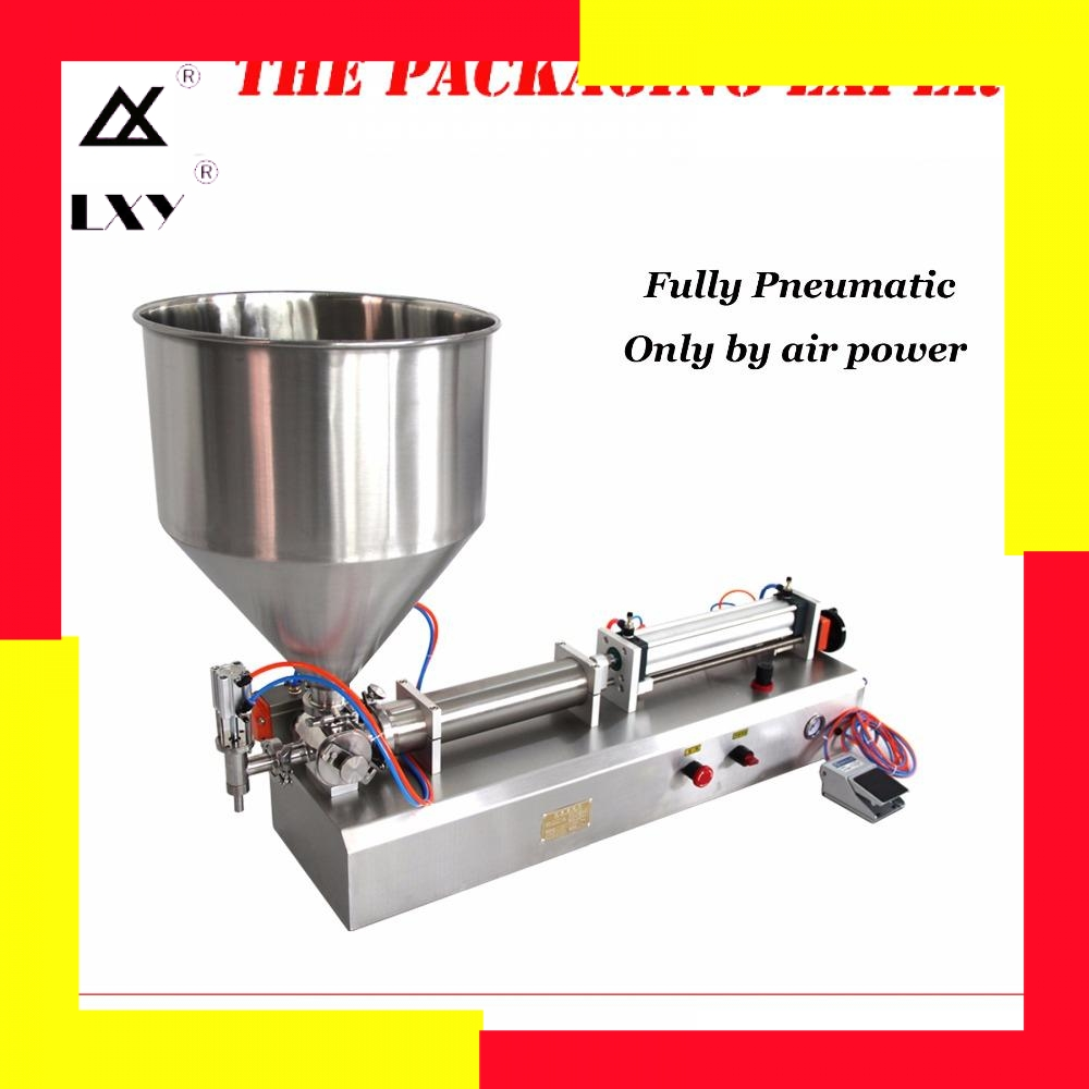 5-100ml Fully Pneumatic Paste Filling Machine Pneumatic With Single Cylinder Piston Shampoo Cream Sauce Lotion Oil Filler
