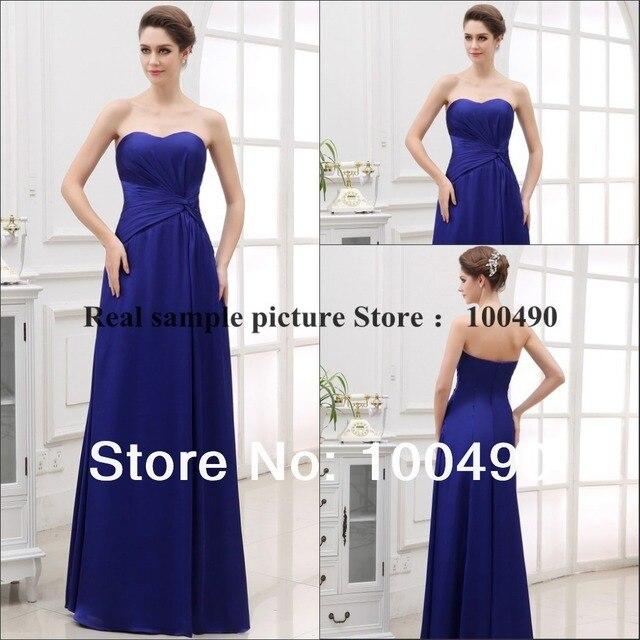 Twisted front Cobalt blue Tube dress adjusted sweetheart neckline ...