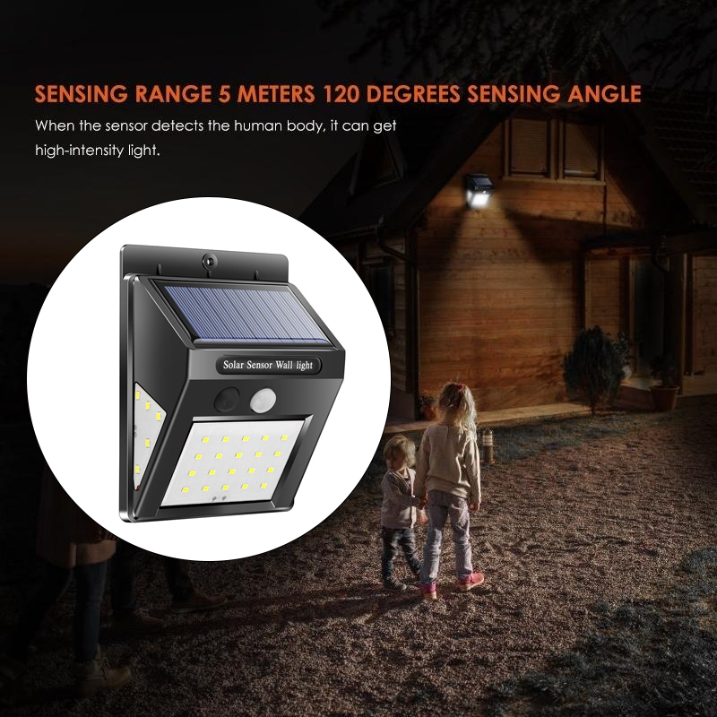 Eco-Friendly Wall Light 30LED Solar Motion Sensor 8W Waterproof Garden Lamp Home Light Controlled Fence Light Induction Light