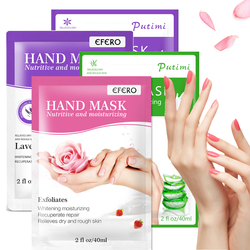 1/2Pair Lavender Moisture Hand Mask Gloves Whitening Hand Patch Skin Care Anti-Wrinkle Drying Paraffin Wax Exfoliating Hand Mask