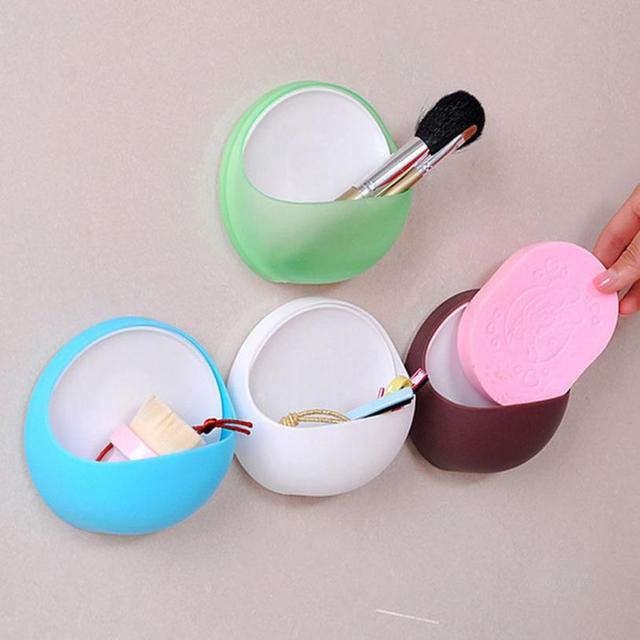 Praktyczne nowe słodkie jajko projekt mydło gąbka Sucker Holder przyssawki kubek organizator stojak na szczoteczki do zębów łazienka kuchnia zestaw do przechowywania