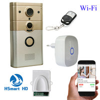 720P IP Wireless Bell Camera WiFi Door Peehole Night Vision 3G 4G PIR Video Door Camera