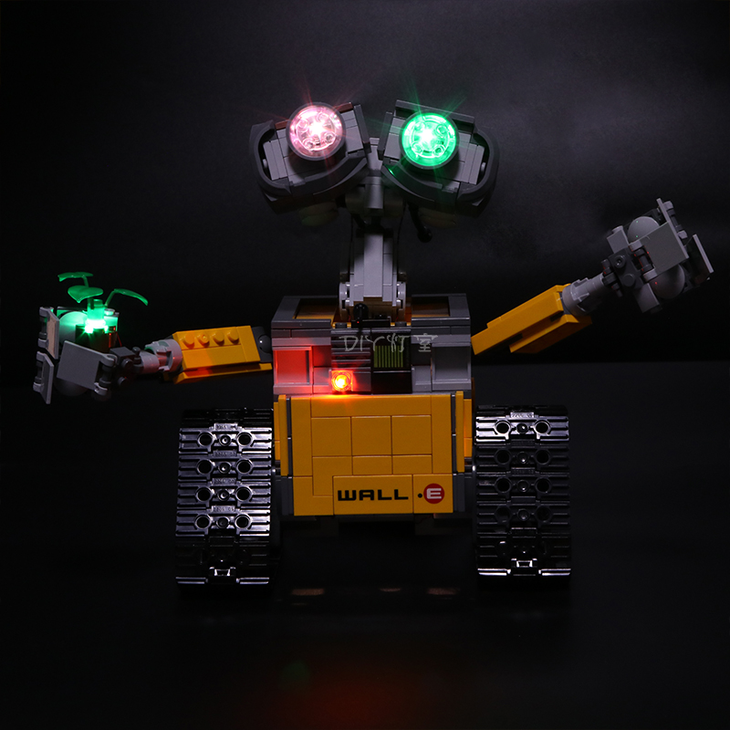 Image 3 - Led Light For Lego 21303 Compatible 16003 Idea Robot WALL E Eyes Flashing Light Building Blocks Toys (only light+Battery box)Blocks   -