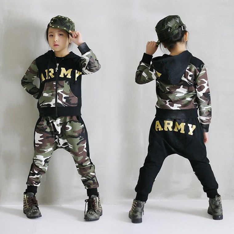 14d3fe03a ... Boys Hip Hop Outfit Kids Streetwear Dance Costume Kids Boys Clothing Set  for Autumn Spring 2019 ...