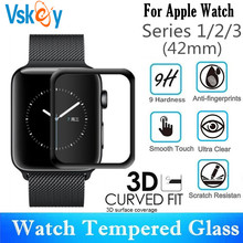 10PCS 3D Curved Full Coverage Tempered Glass For Apple Watch Series 1/2/3 42mm Screen Protector iWatch Protective Film