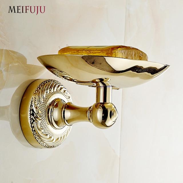 Meifuju euro stijl gouden messing carving zeepbakje badkamer wc ...