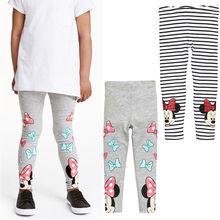 Детские леггинсы для девочек на весну-осень, штаны с рисунком, детские штаны с эластичной резинкой на талии, детские леггинсы, штаны для девочек