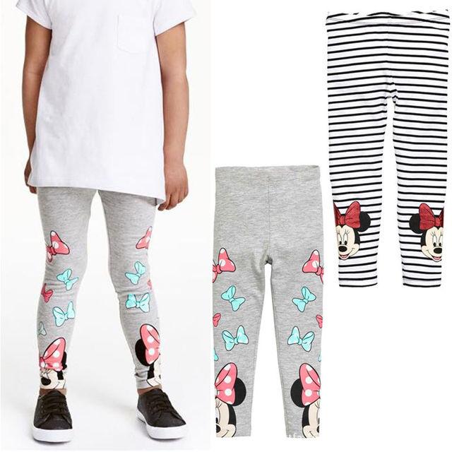 2016 Модель на весну и осень детская одежда для девочек леггинсы брюки мультфильм шаблон печати детские штаны детские леггинсы с эластичной резинкой на талии штаны для девочек