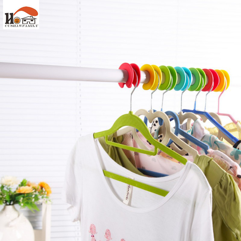 CUSHAWFAMILY multi-function Colorful Clothing non-slip Hanger Drying Cloth Hangers buckle hook Rack Clothes Peg Free shipping