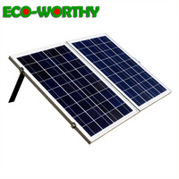 ECOworthy 50W Foldable Folding Poly plate Solar power Panel Portable 18v poly for home 12V battery charger caravans motorhomes