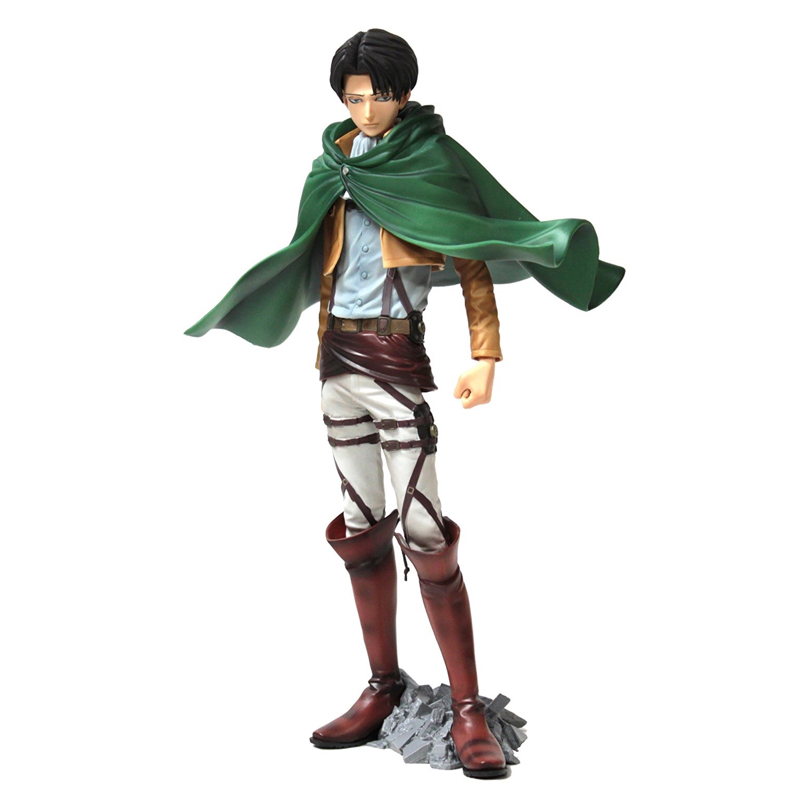 Attack on Titan Master Stars Piece Levi Ackerman Action Figure Collectible Mascot Toys 100% Original 25cm levi ackerman rivaille li weier soldiers attack on titan trunk standing battle edition pvc action figure model toys