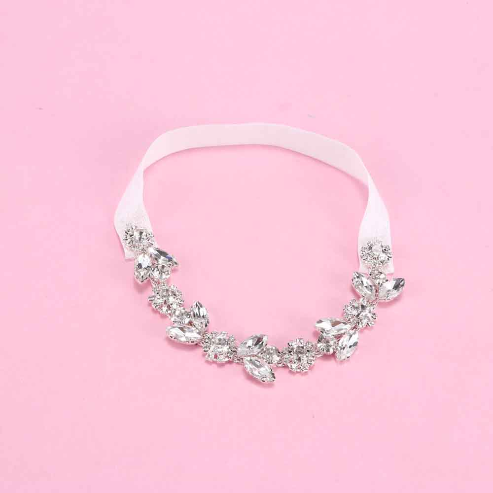 Fashion Wedding Garter Rhinestone Embroidery Flower Beading White Sexy Garters For Women Bride Thigh Ring Bridal Leg Garter