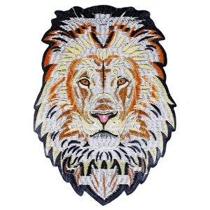Image 3 - 10 חתיכות האריה רקמת ברזל על חזרה תיקוני רקום Applique תיקון תוויות מדבקת בגדי תפירת אביזרי TH1256