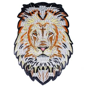 Image 3 - 10 peças leão bordado ferro em remendos de volta bordado applique reparação emblemas para roupas adesivo acessórios costura th1256