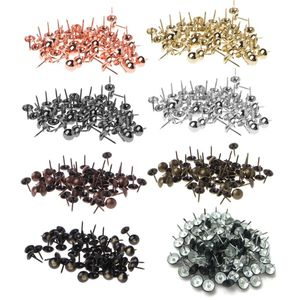 100pcs Antique Brass Upholstery Nails Furniture Tacks Pushpins Hardware Tool