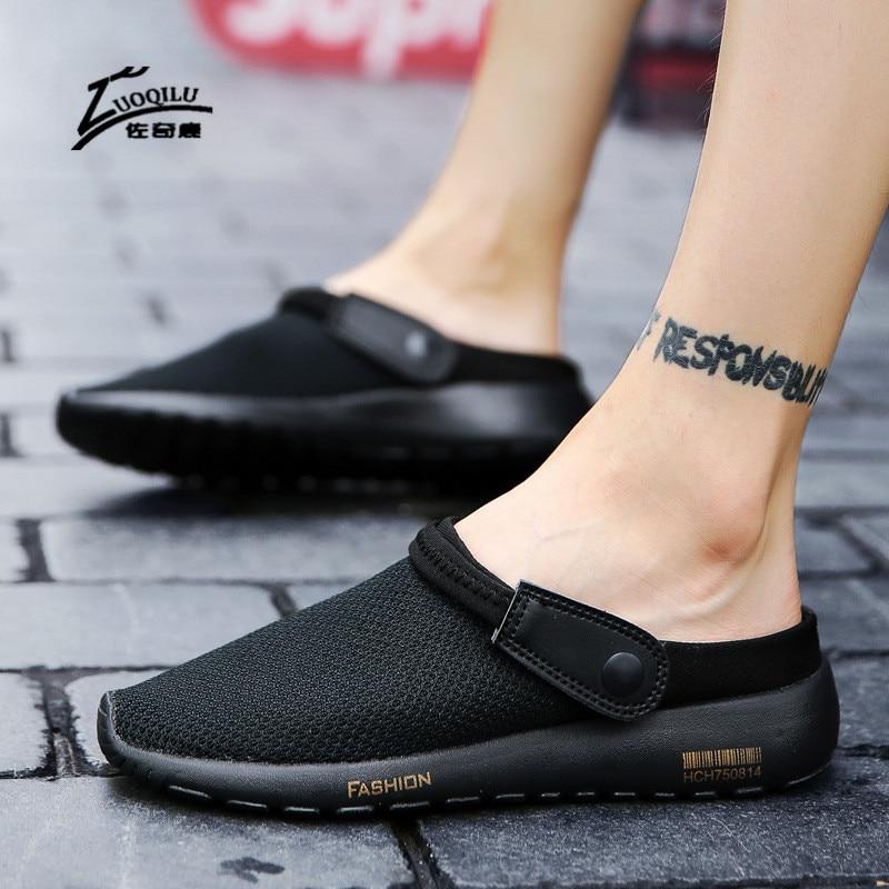 brand men sandals summer breathable ultralight casual beach sandals men sumemr black shoes sandals 2018