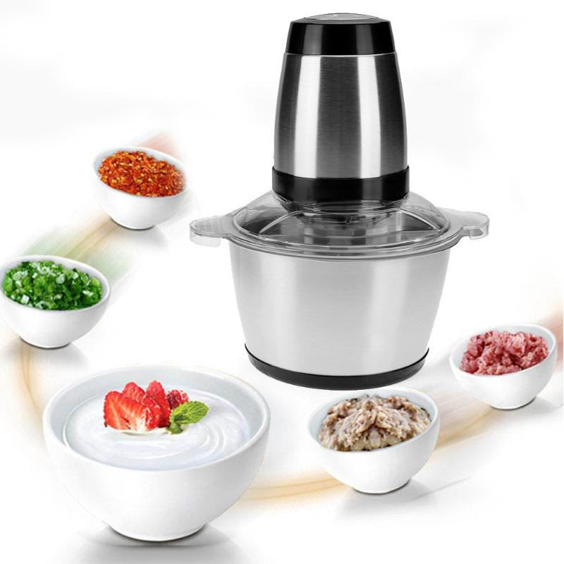 купить Alloet 2L Electric Food Mixer Household Blender Multi-functional Meat Grinder Stainless Steel Food Mixer for Home по цене 2889.21 рублей
