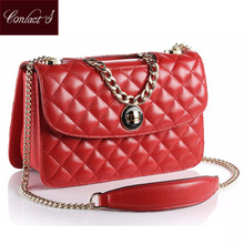 New 2017 Women Bag Luxury Messenger Bags Female Designer Genuine Sheepskin Leather Handbags High Quality Famous