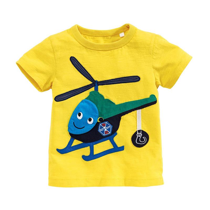 HTB1o8hjXeuSBuNjy1Xcq6AYjFXaI - brand 2018 new fashion kids clothing 100%cotton blouse childrens clothes baby boy t shirts boy's top tee cartoon car Dinosaur