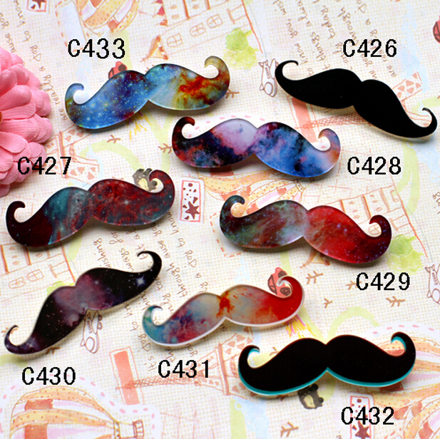 10 different style Custom Make All Kinds Of Harajuku Badges And Brooches,Acrylic Color Beard Badges And Brooches C426-C433