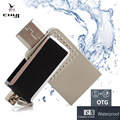 Chyi 2016 nuevo impermeable otg usb 2.0 flash drive 8/16/32/64 gb Tablet Smartphone de Memoria Mini Pen Drive Gadget Enchufe Doble U disco