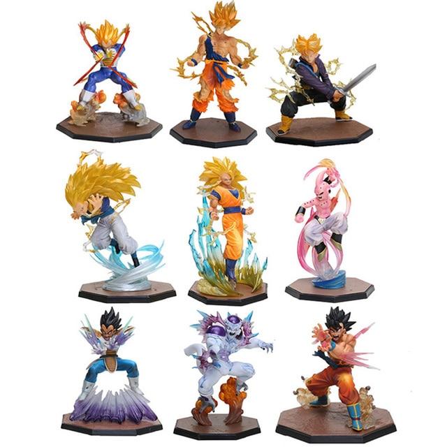 Dragon Ball Z Figura de Ação Vegeta Son Goku Triplo Kaiouken Kamehameha Batalha Ver. Dragonball Z Figura PVC Brinquedo