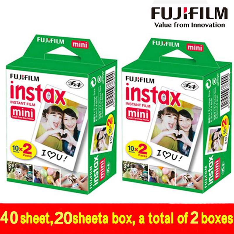 Prix pour Véritable 40 Feuilles Blanc Bord Fuji Fujifilm Instax Mini 8 Film Pour 8 50 s 7 s 7 90 25 Partager SP-1 Appareil Photo Instantané Rapide 2018 est valide