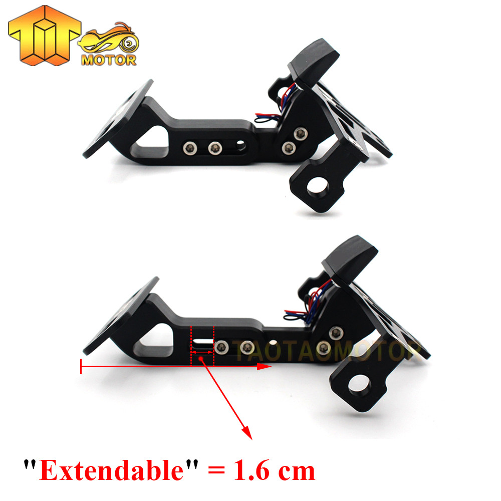 Ck Cattle King Motorcycle Adjustable Angle License Number Plate Breket Plat Nomor Nmax Frame Holder Bracket For Yamaha Tmax 530 500 125 Xjr1300 In Covers Ornamental