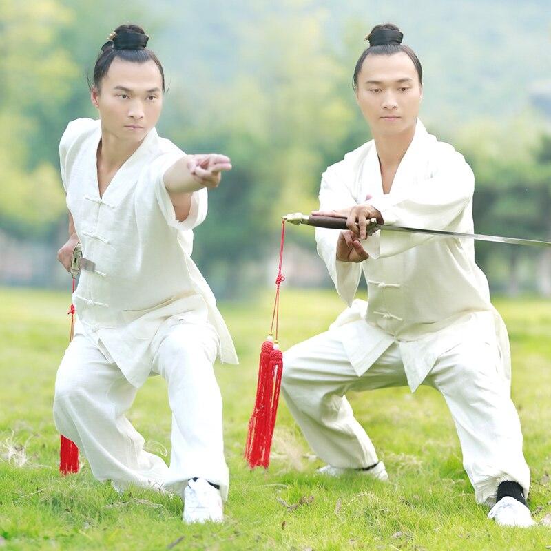 ФОТО Male & Female Handmade  Linen Tai Chi Uniform Wushu, Kung Fu,martial art,Shaolin Training Suit  Chinese Stly  Jacket+Pants