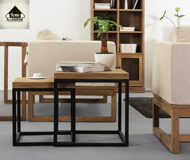 Americano ferro legno piccolo tavolino ikea scrivania - Tavolini in ferro battuto ikea ...