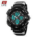TTLIFE Brand New Men Sport Watch Large Dial Digital Watches Noctilucent Dual Display Watch Men Water Resistant Men's Wristwatch