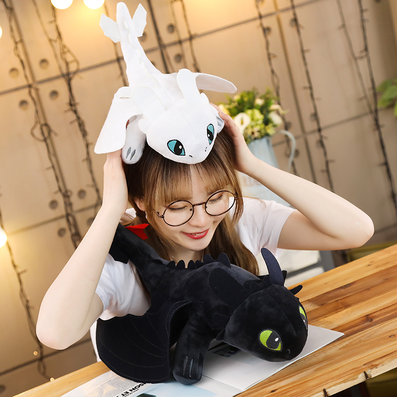Hot Style 25cm How To Train Your Dragon 3 Plush Toys Toothless Light Fury Anime Figure Night Fury Dragon Plush Doll Toy Children