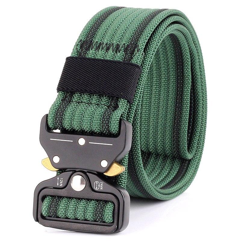 Hot Selling Men Sports Belt Breathable Wear-resistant Adjustable Nylon Outdoor Waistband -B5