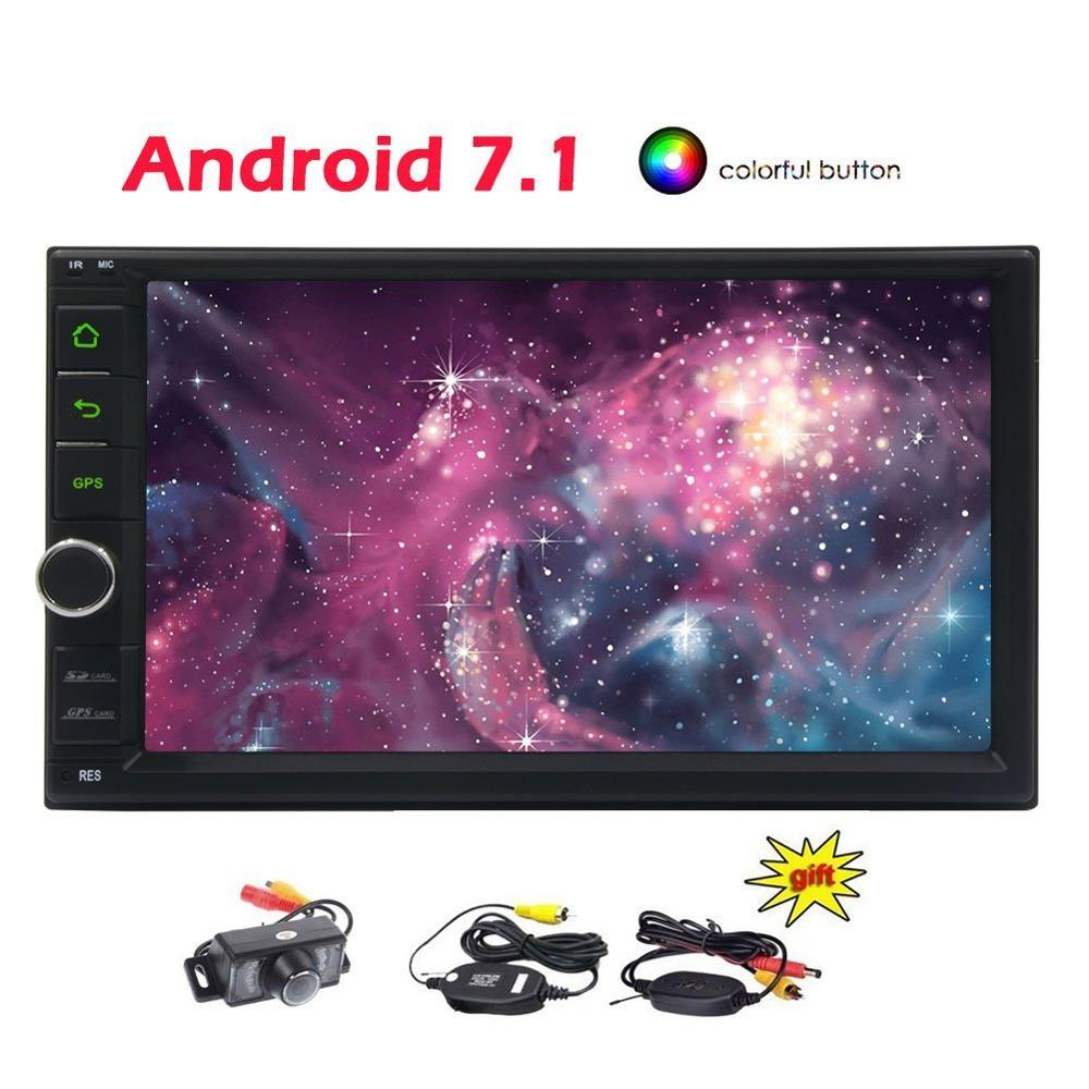 Android 7.1 Car Stereo 7 2Din Car Video Player Autoradio Bluetooth GPS Navigation Car PC 8 core Head Unit+Wireless Rear Camera