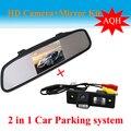 """4.3 """" Monitor del espejo + copia de seguridad del coche cámara de visión trasera aparcamiento para Chevrolet Epica Lova Aveo Captiva Cruze cámara del revés del coche"""