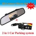"""4.3 """" Monitor espelho + câmera de estacionamento de segurança do carro para Chevrolet Epica Lova Aveo Captiva Cruze carro câmera reversa"""