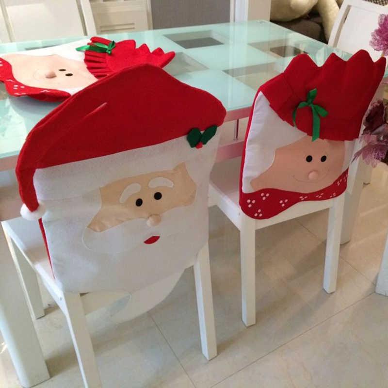Kerstversiering nieuwjaar home decor/speelgoed/cadeau voor het nieuwe jaar kerst decor/ornamenten/decoratie 2018 stoel voor cover