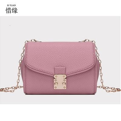 famous Designer Women's Handbags Retro Genuine Leather 2017 New Arrival Women Crossbody Bags Female Handbag light grey/pink
