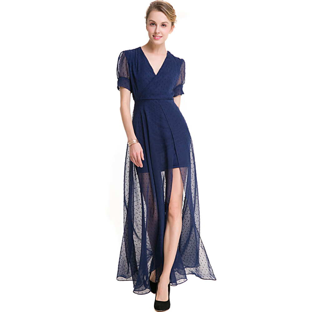 Blue Long Gowns Promotion-Shop for Promotional Blue Long Gowns on ...