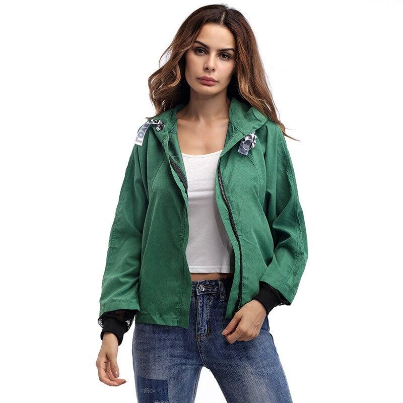 Autumn Coat Jacket Women Casual Clothes Pullover Long Sleeve Solid Zipper Fashion Jackets Windbreaker Womens Spring Hot Harajuku