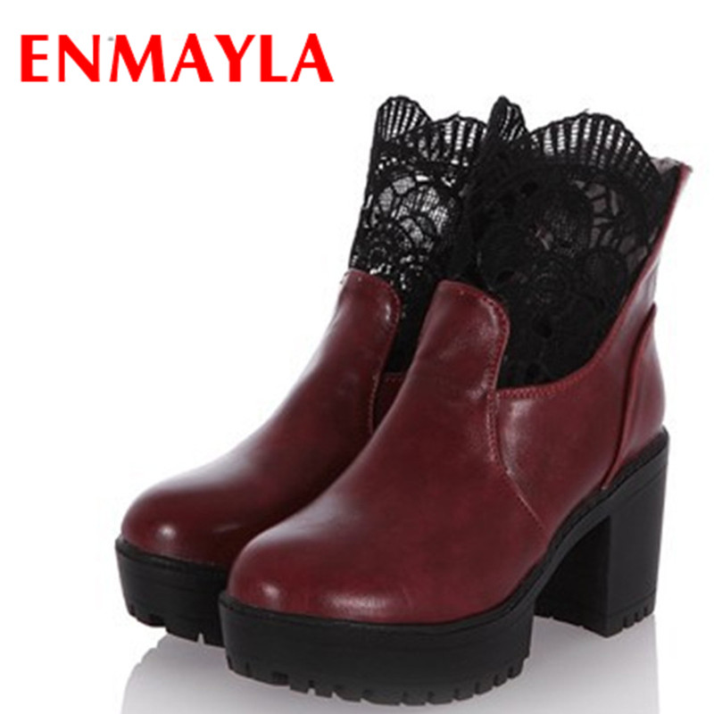 new motorcycle boots fashion high heels women for winter autumn shoes black quality ankle