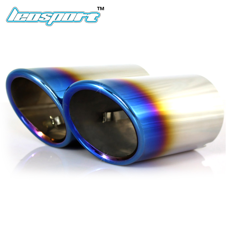 S Line Exhaust Pipe End Tip Covers For Audi Cars A1 A3 A4 A5 A6 Q3 Q5 TT
