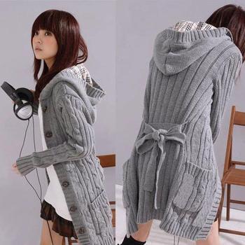 de chaqueta gris otoño de invierno estilo fondo nueva suéter de suéter de Cardigans promoción caliente largo venta mujer cardigan 2015 las de mujeres qHRwUH1T